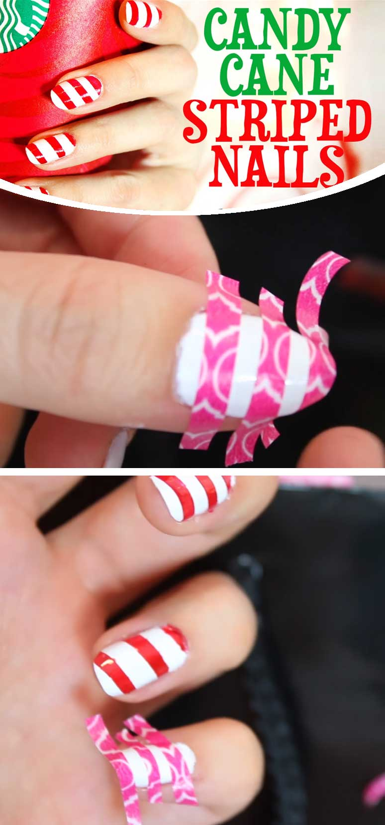 Easy Diy Christmas Nail Art Designs Diy Cuteness