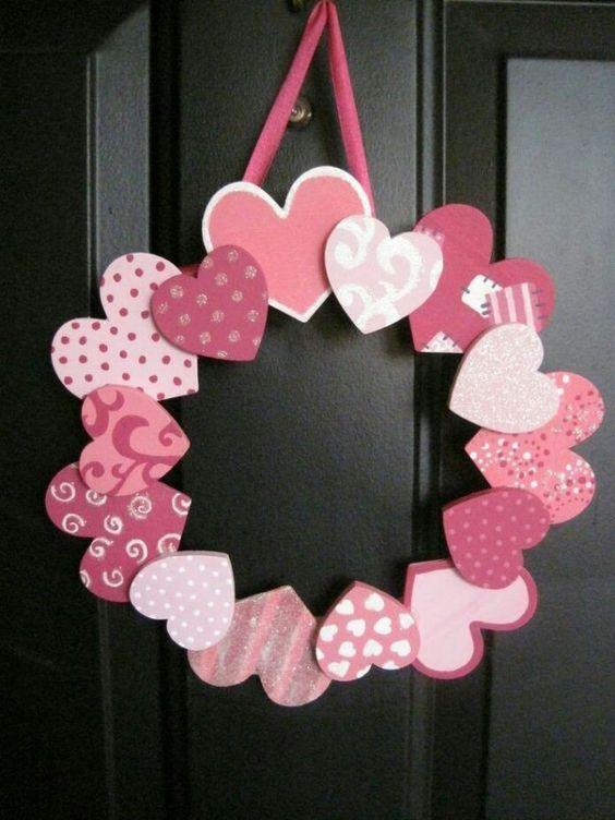 Patterned Heart Wreath