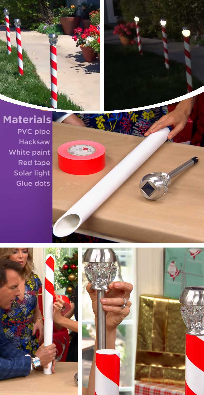 DIY Candy Cane Solar Light