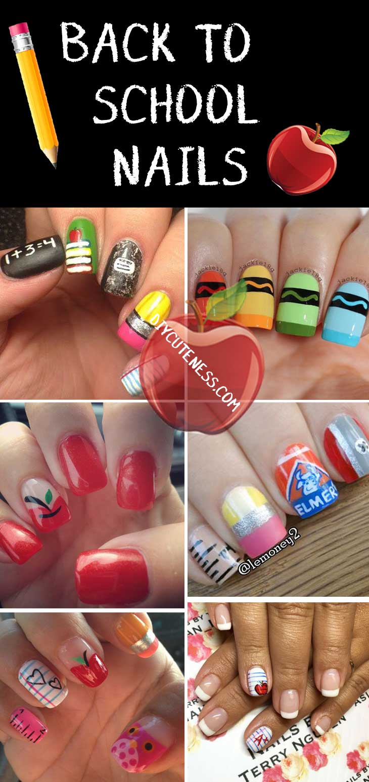Diy Back to School Nail Art for Teens - DIY Cuteness