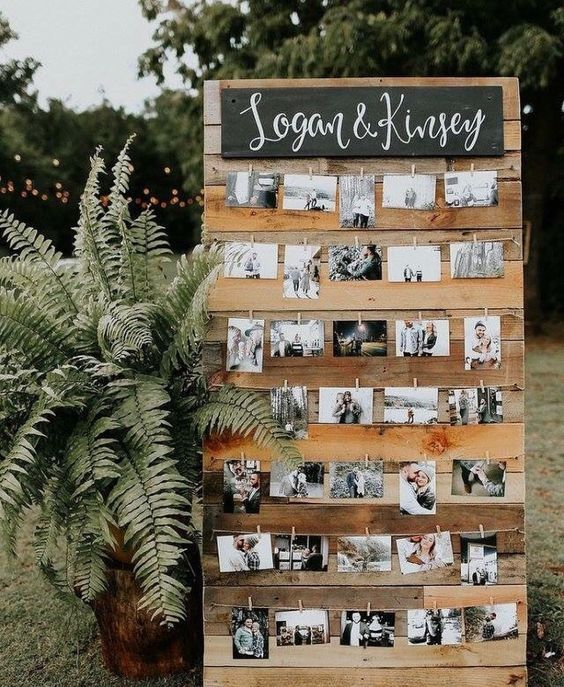 Reycycled Wood Photo Board