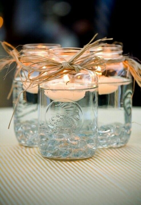 Rustic Tea Light Vases