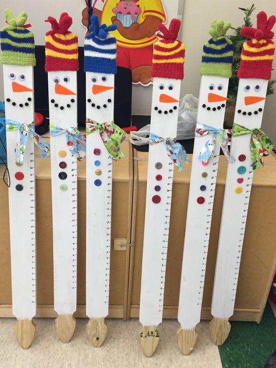 Fence Post Snowmen