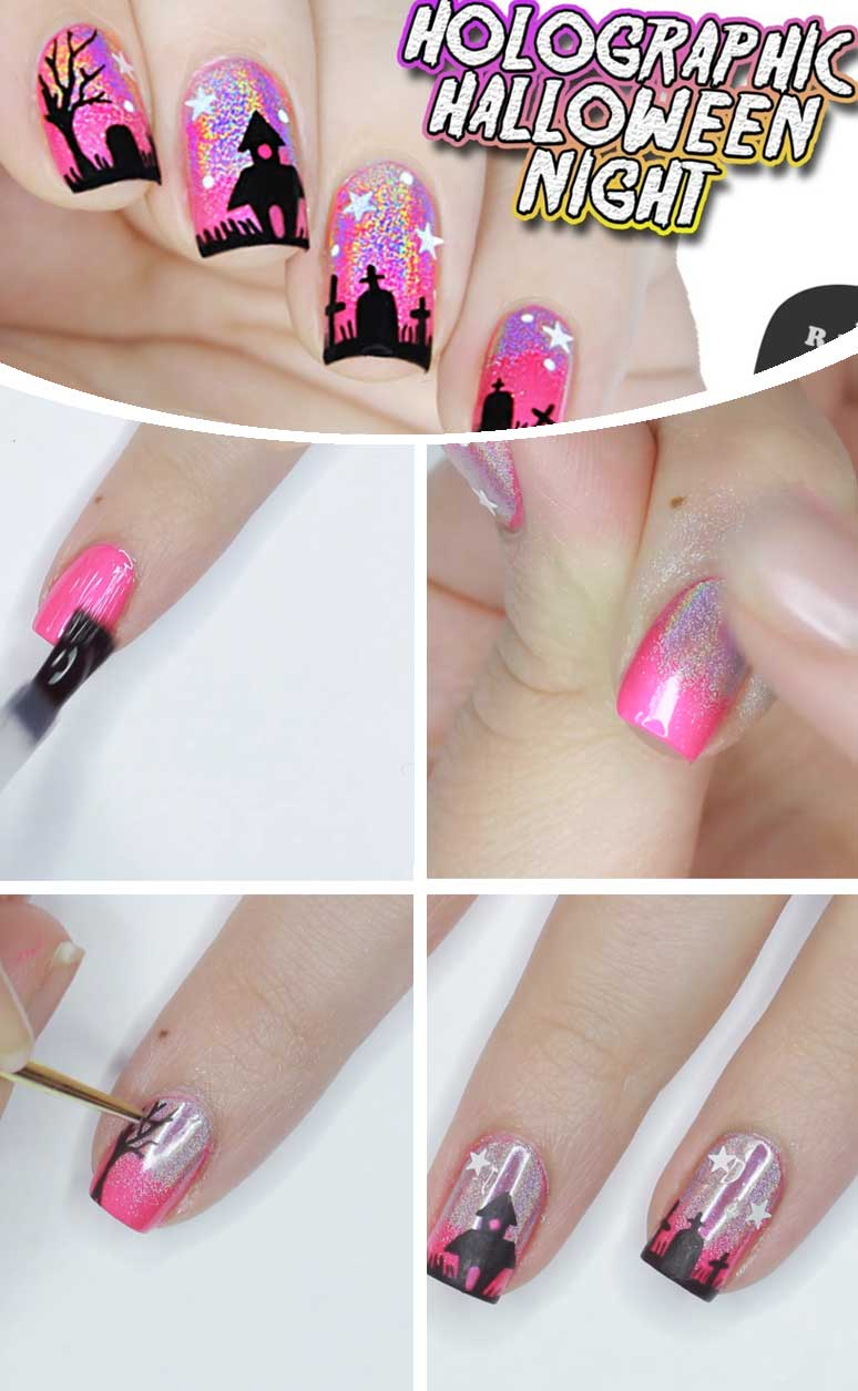 Diy Halloween Nail Designs Diy Cuteness