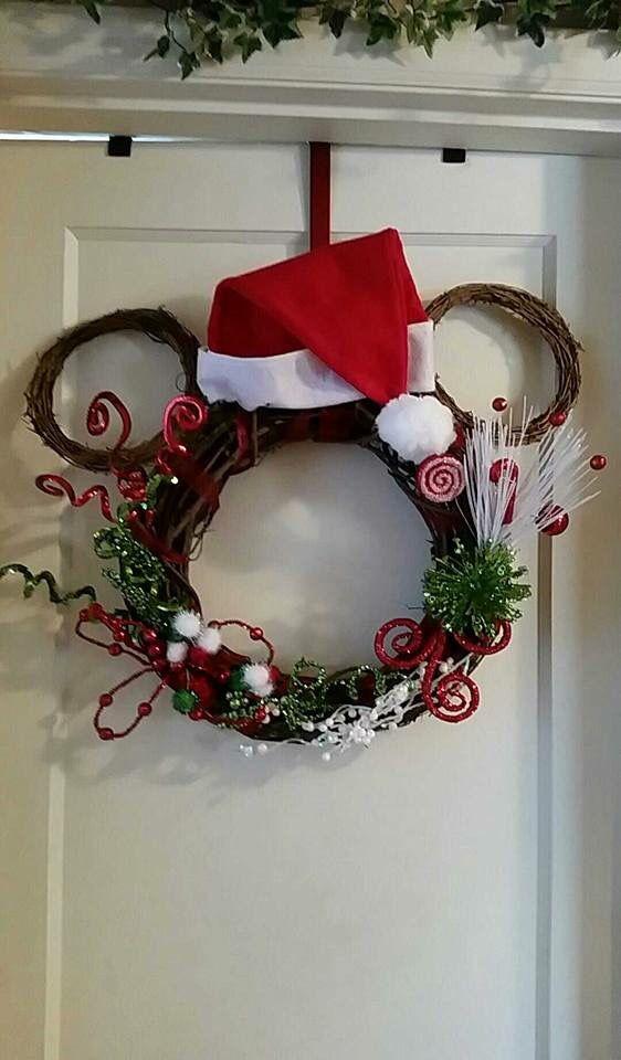 Mickey Mouse Vine Wreath