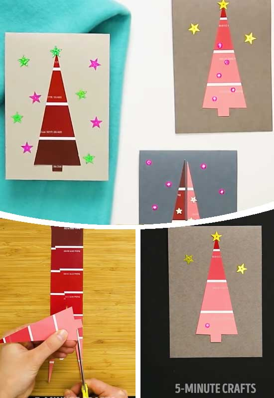 Paint Chip Tree Cards