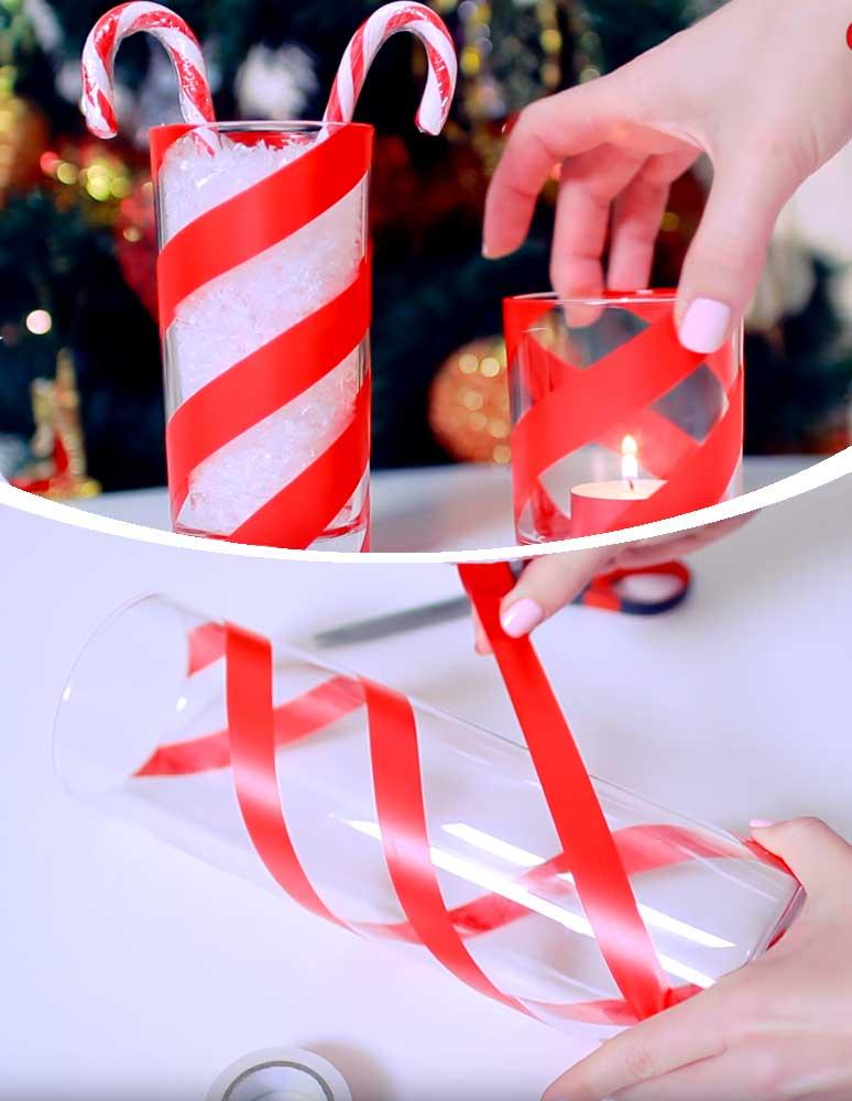 Candy Cane Jars