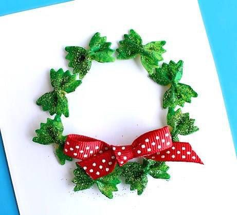Pasta Bow Wreath