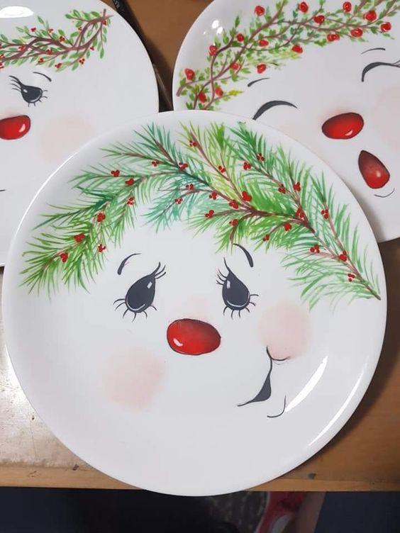 Snowman Plate