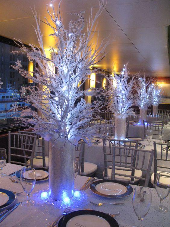 Illuminated White Branches