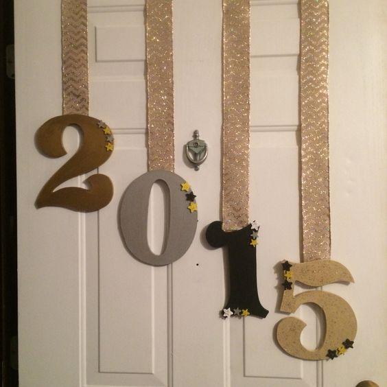 New Years Door Decor