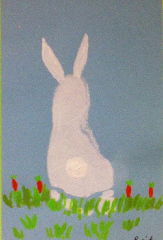 Footprint Bunny Art