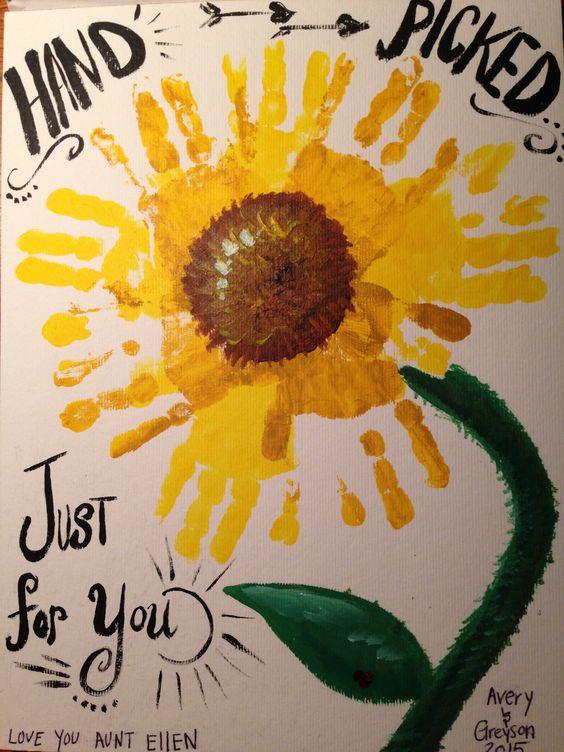 Handprint Sunflower