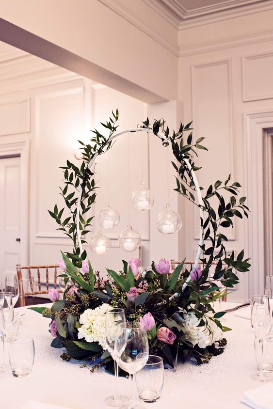 Floral Hoop Table Centrepiece